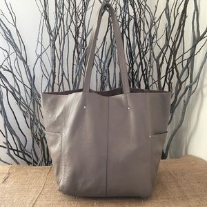 American Eagle Outfitters Large Taupe Leather Tote
